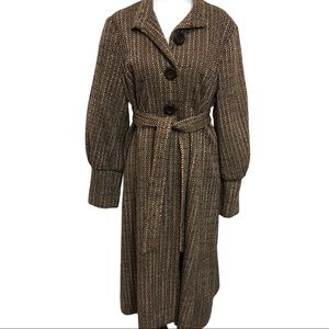 Anthropologie Beth Bowley Vintage Style Tweed Coat